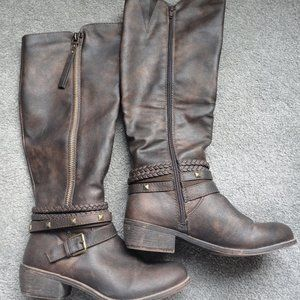 SO Olive Women's Riding Boots Color: Brown Size: 8